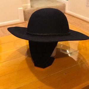 NWT Navy wool floppy-brim hat